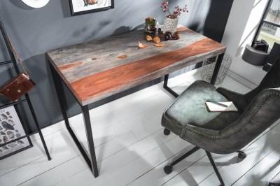 Stílusos íróasztal Factor 118 cm füstös sheesham