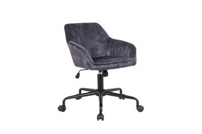 Stílusos irodai szék Esmeralda sötétszürke bársony