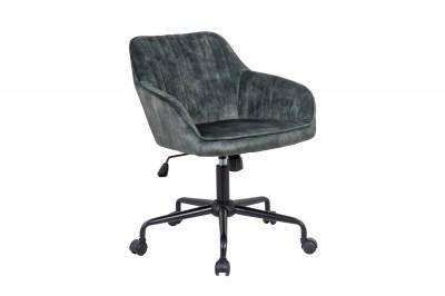 Stílusos irodai szék Esmeralda zöld bársony