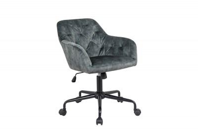 Stílusos irodai szék Kiara zöld bársony
