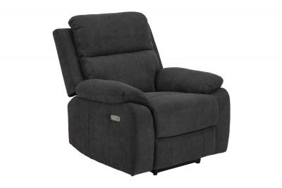 Stílusos relaxációs fotel Dashiell sötétszürke