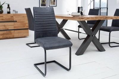 Stílusos szánkótalpas szék Douglas antik szürke