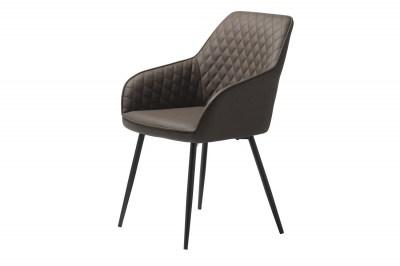 Stílusos szék Dana sötétbarna műbőr