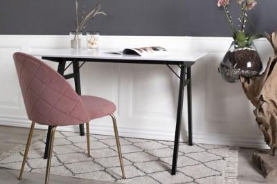 Stílusos szék Ernesto, rózsaszín / sárgaréz szín