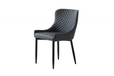 Stílusos szék Hallie szürke műbőr