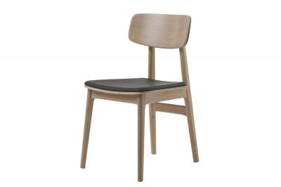 Stílusos szék Harper natúr - fekete