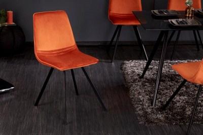 Stílusos szék Holland narancssárga bársony