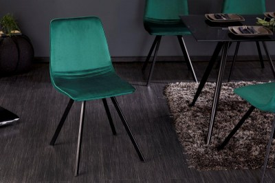 Stílusos szék Holland zöld bársony