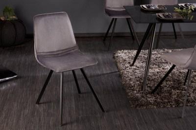 Stílusos szék Holland sötétszürke bársony