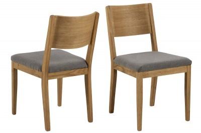 Stílusos szék Tomas szürke - natúr