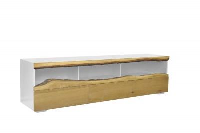 Stílusos TV asztal Kira 180 cm tölgy - fehér