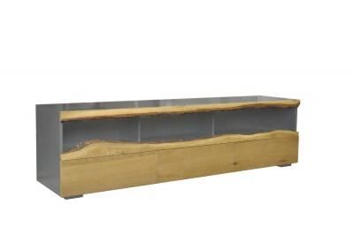 Stílusos TV asztal Kira 180 cm tölgy - szürke