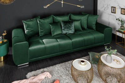 Stílusos ülőgarnitúra Cason 280 cm smaragdzöld