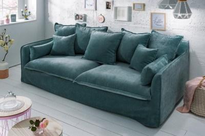 Stílusos ülőgarnitúra Eden 210 cm petrol zöld / bársony