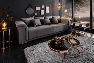 Stílusos ülőgarnitúra Korbin 270 cm világosszürke