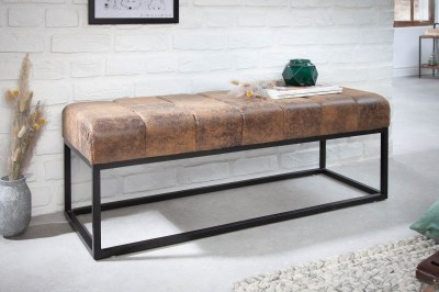 Stílusos ülőpad Halle 108 cm antik barna