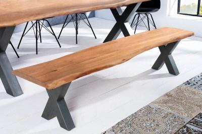 Stílusos ülőpad Massive X Honey 160 cm akácia