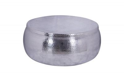 Stílusos dohányzóasztal Malia Storage 70 cm ezüst