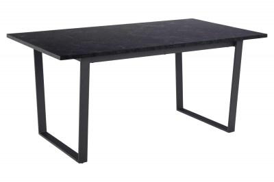 Stílusos étkezőasztal Nayo 160 cm fekete márvány
