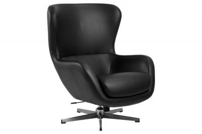 Stílusos fotel Alessandro fekete műbőr