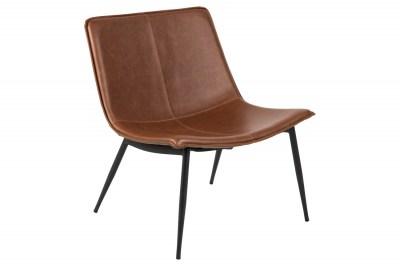 Stílusos fotel Janessa barna műbőr