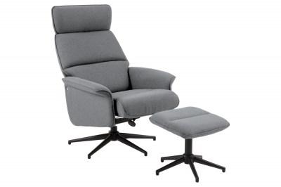 Stílusos fotel lábtartóval Shiloh szürke