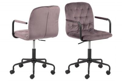 Stílusos irodai szék Zara rózsaszín
