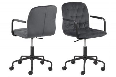Stílusos irodai szék Zara sötétszürke