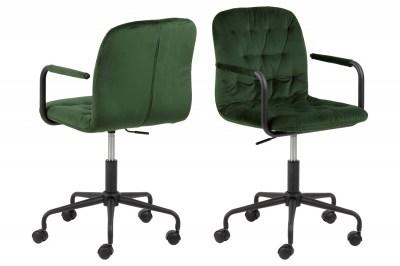 Stílusos irodai szék Zara zöld