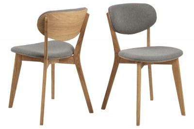 Stílusos szék Aidyn szürke - natúr