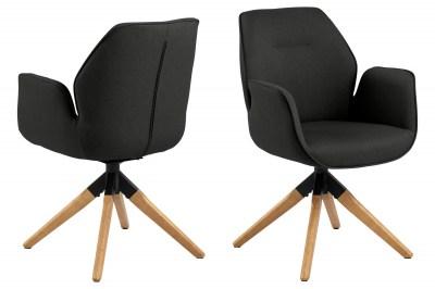 Stílusos szék Ariella fekete - natúr