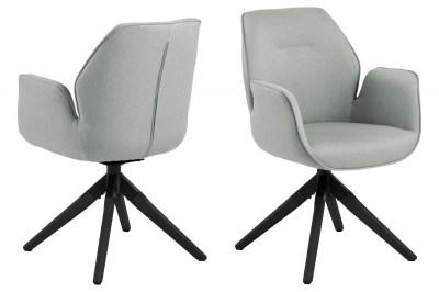 Stílusos szék Ariella szürke - fekete