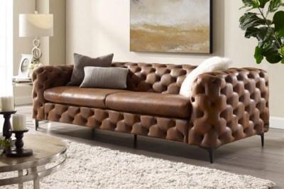 Stílusos ülőgarnitúra Rococo 240 cm barna