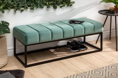 Stílusos ülőpad Halle 110 cm bársony - mentol zöld