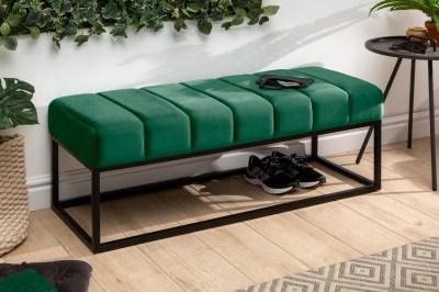 Stílusos ülőpad Halle 110 cm bársony - smaragdzöld