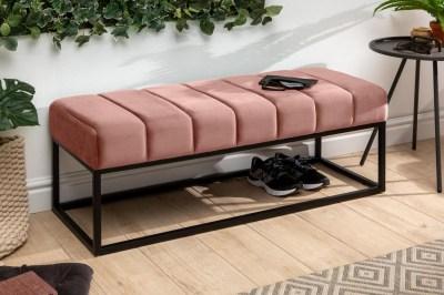 Stílusos ülőpad Halle 110 cm bársony - vénrózsaszín