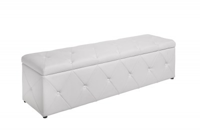 Stílusos ülőpad Spectacular 140 cm fehér szintetikus bőr