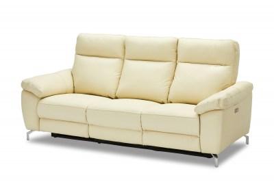 Stílusos 3-személyes kanapé Abeeku - krémszínű