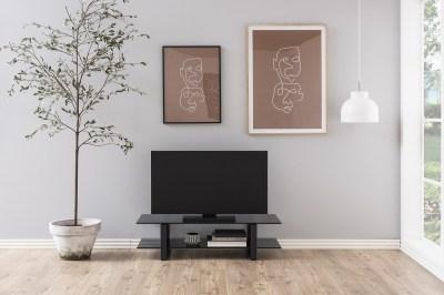 Stílusos TV asztal Akamu - fekete