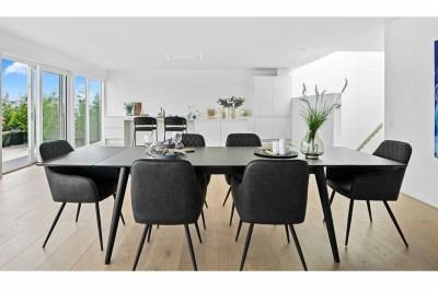 Széthúzható asztal Ronald 285 fekete