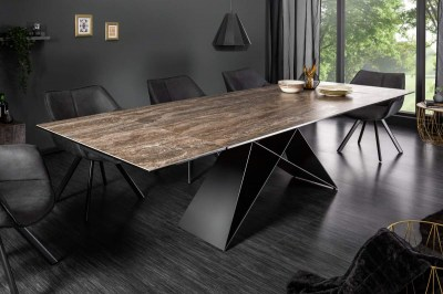 Széthúzható étkezőasztal Brock rozsda 180-260 cm