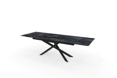 Széthúzható kerámia étkezőasztal Natasha 180-220-260 cm láva