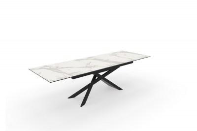 Széthúzható kerámia étkezőasztal Natasha 180-220-260 cm szürke