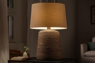 Ratan asztali lámpa Terrell 82 cm szürke - bézs