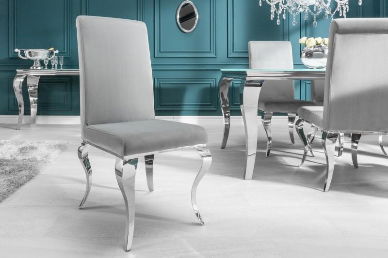 Stílusos szék Rococo szürke