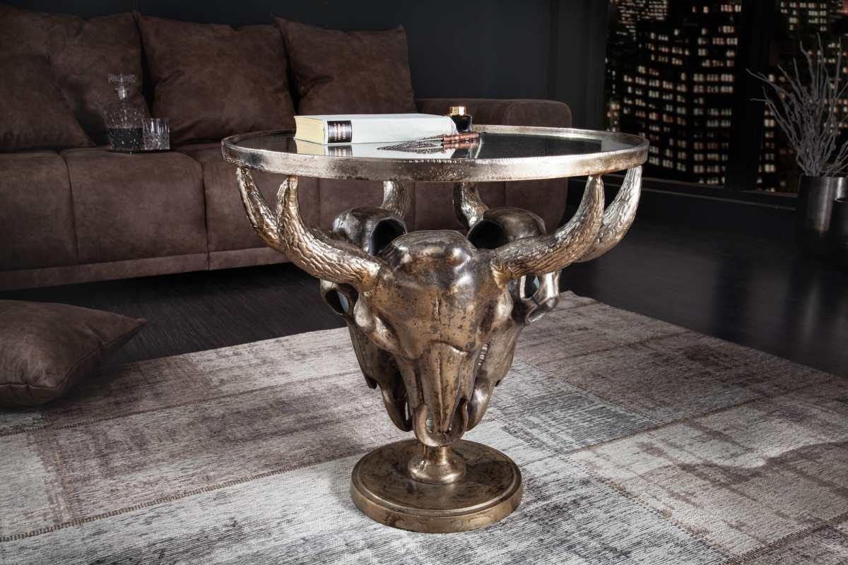 Stílusos dohányzóasztal Randal 56 cm bronz