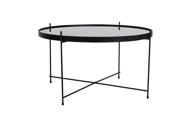 Stílusos dohányzóasztal Tatum 70 cm fekete - raktáron SK 1db