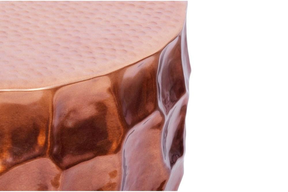 Stílusos dohányzóasztal Alijah 55 cm rézszínű